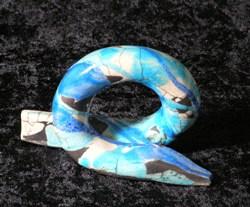 kleine slang raku gestookt 10 cm hoog €55